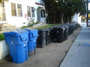 blueblacktrash-bins